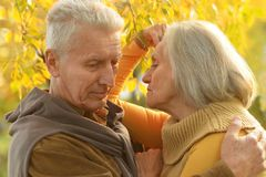 Caucasian elderly couple Stock Photography