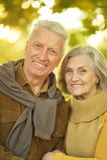 Caucasian elderly couple Stock Image