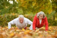 Caucasian elderly couple Stock Photo