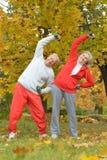 Caucasian elderly couple Stock Images