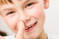Caucasian European school boy closeup portrait Stock Photos