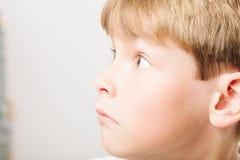 Caucasian European school boy closeup portrait Royalty Free Stock Photo