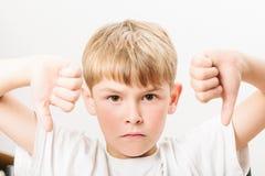 Caucasian European school boy closeup portrait Stock Images