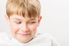 Caucasian European school boy closeup portrait Royalty Free Stock Photography