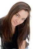 Caucasian exotic beauty. Close-up portrait of a pretty exotic Caucasian woman Stock Images