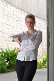 caucasian företags executive kvinnlig arkivbilder
