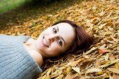 caucasian fall girl season Στοκ εικόνα με δικαίωμα ελεύθερης χρήσης