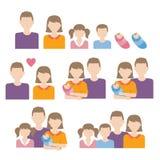 Caucasian familjvektor Arkivbild