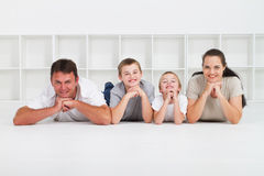 Caucasian family Royalty Free Stock Image