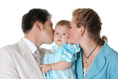 Caucasian family Royalty Free Stock Photos