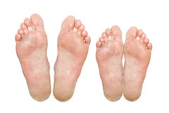 Caucasian feet Royalty Free Stock Photo