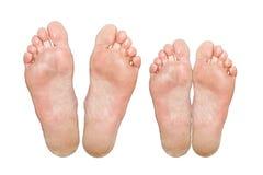 Caucasian feet Royalty Free Stock Photo