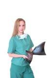 Caucasian female doctor Stock Photos