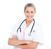 Caucasian female doctor Stock Images