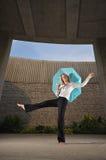 Caucasian Female Executive Dancing Stock Photo