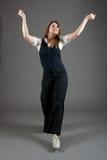 Caucasian Female Jazz Dancer Stock Photo