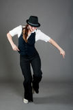 Caucasian Female Jazz Dancer Stock Images