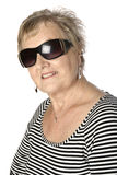 Caucasian female senior in stripy top Stock Images