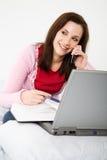Caucasian female student Stock Image