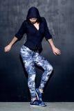 Caucasian fitness woman, lifestyle portrait Stock Images