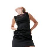 caucasian flickawhite för bakgrund Arkivfoto
