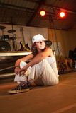 Caucasian freestyle hip-hop dancer Stock Photography