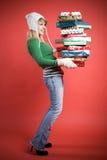 caucasian gifts girl στοκ φωτογραφίες με δικαίωμα ελεύθερης χρήσης