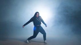 Caucasian girl dancing hip hop. Caucasian girl dancing hip hop stock footage