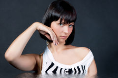 Caucasian girl expressing sensuality isolated Stock Image