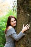 Caucasian girl in fall season Stock Image