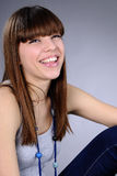 Caucasian girl laughing Royalty Free Stock Photos
