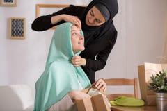 Caucasian girl with muslim veil Stock Photography