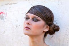 Caucasian girl portrait with makeup Stock Photos