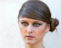 Caucasian girl portrait with makeup Stock Images