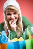 caucasian girl shopping Στοκ εικόνα με δικαίωμα ελεύθερης χρήσης