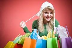 caucasian girl shopping Στοκ Εικόνα