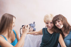Caucasian Girlfriends With Dental Bracket System Installed Are B Royalty Free Stock Image