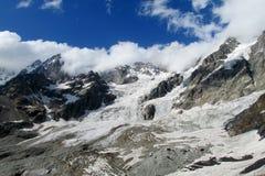 Caucasian glacier landscape Royalty Free Stock Photography