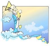 Caucasian god's cartoon... Stock Photography
