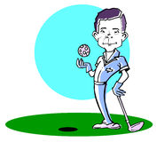 Caucasian golfer man /clipart Royalty Free Stock Photography