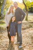 Caucasian Grandmother and Grandfather With Young Mixed Race Child. Caucasian Grandmother and Grandfather With Young Mixed Race Grand Daughter Outdoors royalty free stock photos