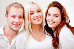 Caucasian group of people Royalty Free Stock Images