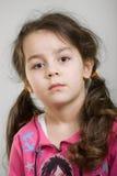 caucasian gullig flicka Arkivfoto