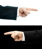 Caucasian hand in a business suit isolated Royalty Free Stock Photos