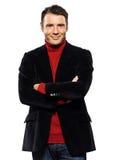 Caucasian handsome man portrait smiling cheerful Stock Photo