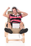 Caucasian handsome  man, relaxing Stock Photo