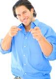 caucasian happy male pointing viewer young Στοκ εικόνα με δικαίωμα ελεύθερης χρήσης