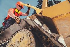 Heavy Equipment Mechanic Job stock photo