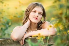Caucasian High School Senior Girl Outside Stock Photo