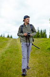 Caucasian hiker Stock Images